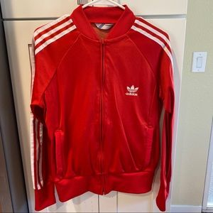 ⚜️ Red Adidas Track Jacket ⚜️